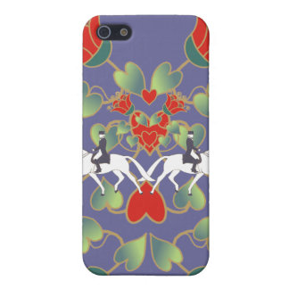 Dressage Hearts and Flowers  iPhone 5 Cover
