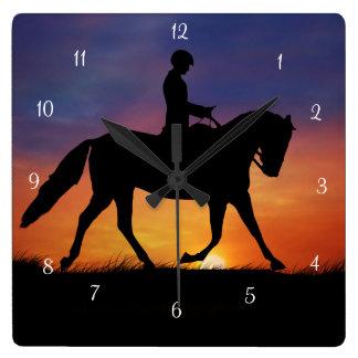 Dressage Horse and Rider Clock