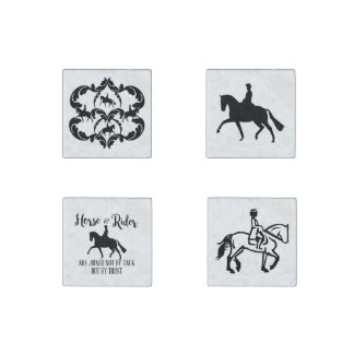 Dressage horse and rider Magnets Stone Magnet