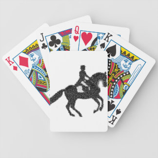 Dressage Horse and Rider Mosaic Design Bicycle Playing Cards