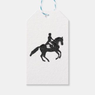 Dressage Horse and Rider Mosaic Design Gift Tags