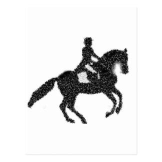 Dressage Horse and Rider Mosaic Design Postcard