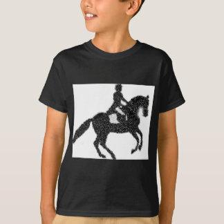 Dressage Horse and Rider Mosaic Design T-Shirt