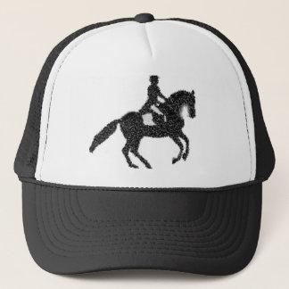 Dressage Horse and Rider Mosaic Design Trucker Hat
