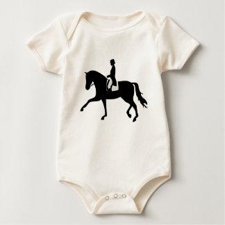 dressage horse baby bodysuit