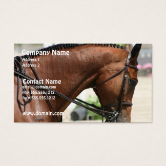 Dressage Horse Business Card