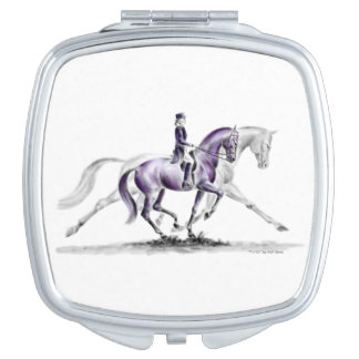 Dressage Horse in Trot Piaffe Mirror For Makeup