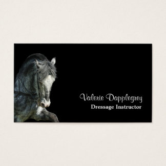 Dressage horse photo business card