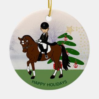 Dressage Horse Rider ADD own PHOTO Xmas Decoration