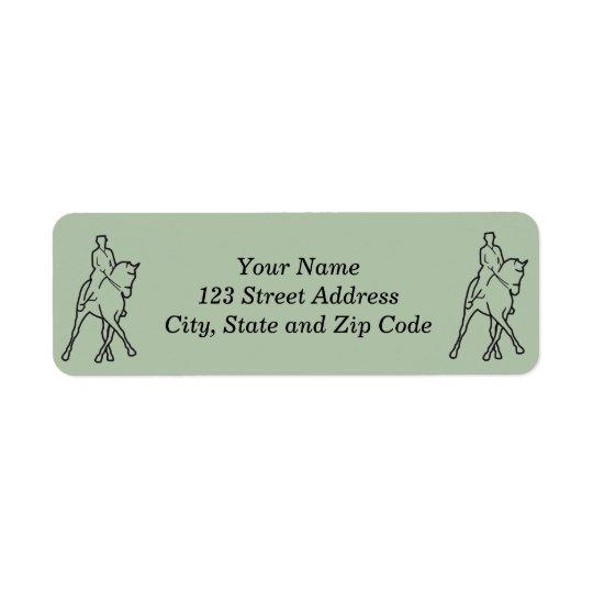 Dressage Horse & Rider - Half Pass Return Address Label