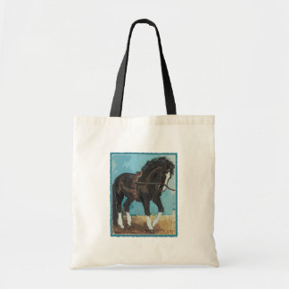 Dressage Horse Working on Lunge Line Equine Art Tote Bags