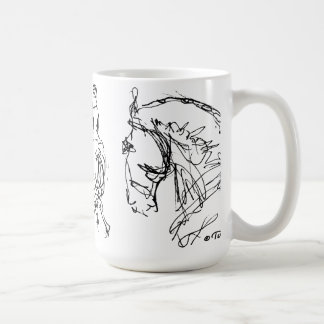 Dressage Horses Mug  Black