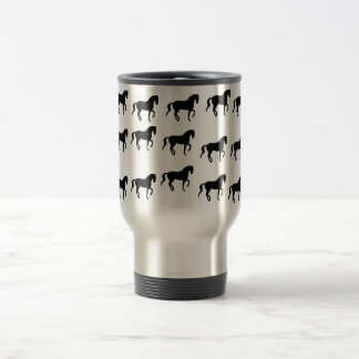 Dressage Horses Piaffe Pattern Travel Mug