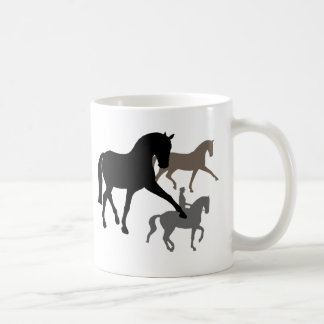 Dressage Horses Trio Coffee Mug