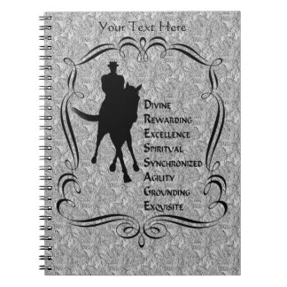 Dressage Is Horse Rider Silhouette Notebook