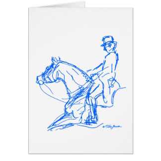 Dressage: Loose Rein Card - Blue