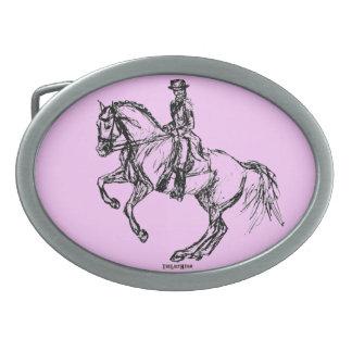Dressage Pirouette Equestrian Belt Buckle
