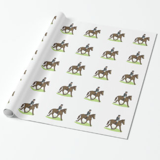 Dressage Rider at Trot Wrapping Paper