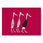 Dressed ducks greeting card
