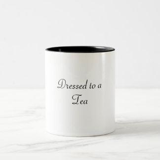 Dressed to a TEA Two-Tone Mug