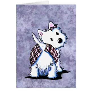 Dressed To Kilt Westie Card