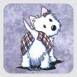 Dressed To Kilt Westie Stickers