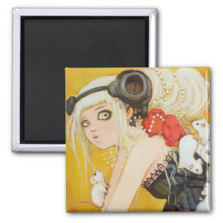 Dressed Up Disorder Square Magnet