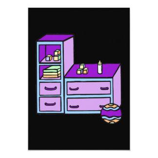 dresser purple blue 13 cm x 18 cm invitation card
