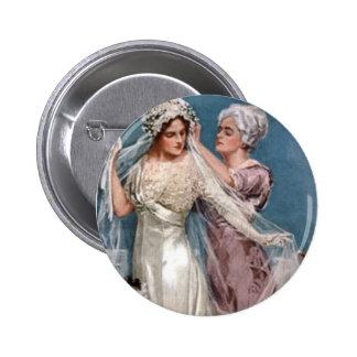 Dressing the Bride 6 Cm Round Badge