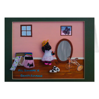 Dressing Up Scottie Greeting Card