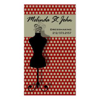 Dressmaker Mannequin Sewing Fashion Designer Pack Of Standard Business Cards