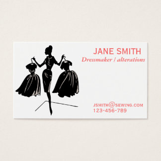 Dressmaker, Sewing, tailor professional Business Card