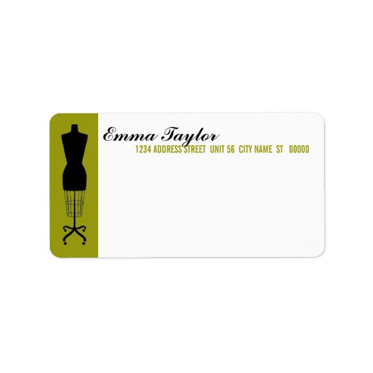 Dressmaker's Form Return Address Shipping Label