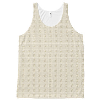 Dressy-Floral-Beige-Women's-Tanks-S-XL All-Over Print Singlet