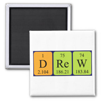 Drew periodic table name magnet
