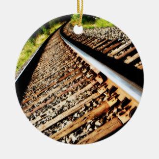 Drew Sullivan -  Railroad Tracks Ceramic Ornament