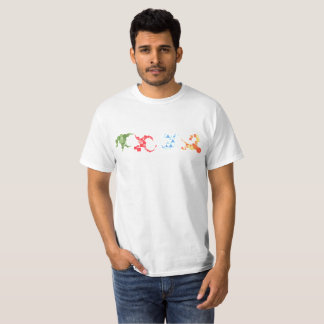 Drew's Design T-shirt - colorful geometric