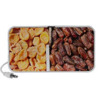 Dried apricots and dates at farmer's market iPod speaker
