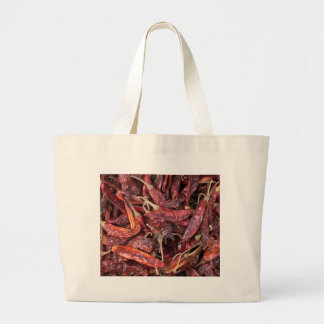 Dried Chili Peppers Large Tote Bag