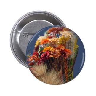 Dried Flowers in the Market Pinback Button