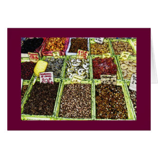 Dried fruits and nuts at the Market Greeting Card
