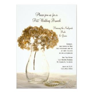 Dried Hydrangea Post Wedding Brunch Invitation