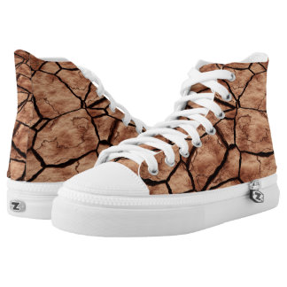 Dried Lake Bed Printed Shoes