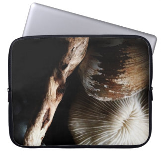 dried mushroom coral, shell, driftwood laptop sleeve