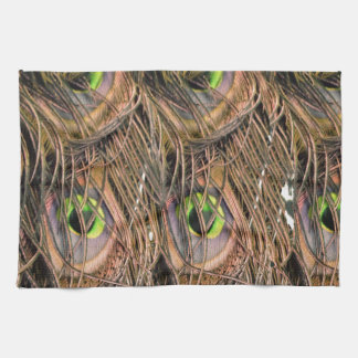 Dried Peafowl Feathers Tea Towel