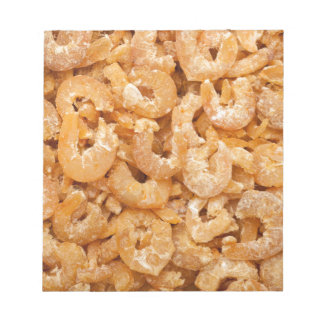 Dried shrimps notepad