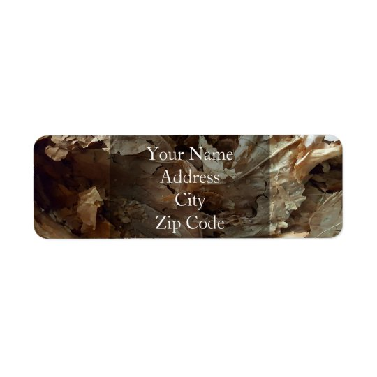 Dried tobacco leaves return address label