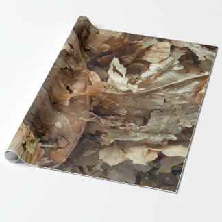 Dried tobacco leaves wrapping paper