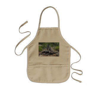 Dried Tree Trunk In The Forest Kids Apron