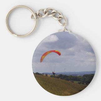Drift Away Basic Round Button Key Ring